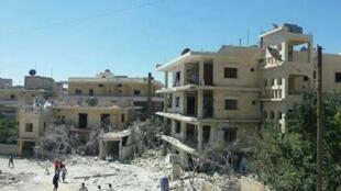 """مستشفى توليد تدعمه """"سيف ذا تشيلدرن"""" تعرض للقصف في محافظة إدلب السورية"""