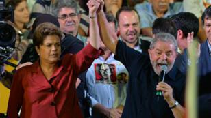 L'ancien président et l'actuelle présidente du Brésil.