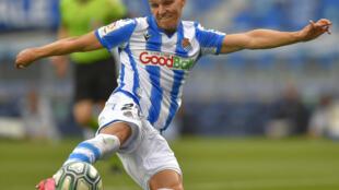 Le milieu de la Real Sociedad Martin Odegaard le 24 juin 2020 face au Celta Vigo