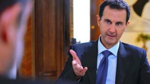 الرئيس السوري بشار الأسد في دمشق في 28 تشرين الثاني/نوفمبر 2019 خلال إدلائه بمقابلة