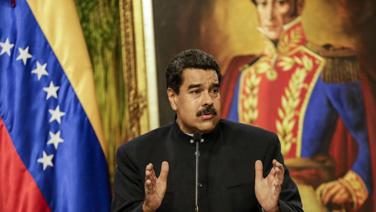 Imagen de archivo del presidente Nicolás Maduro ofreciendo una alocución en el Palacio de Miraflores, en Caracas, Venezuela.