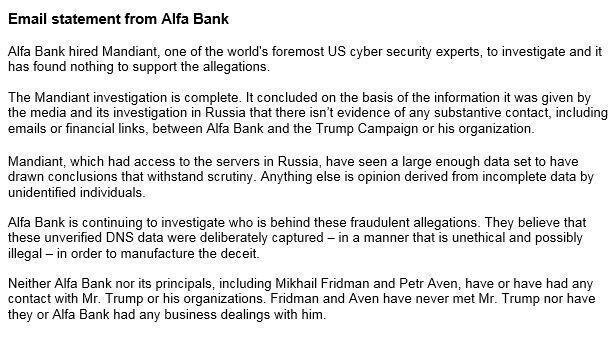 Alfa Bank statement