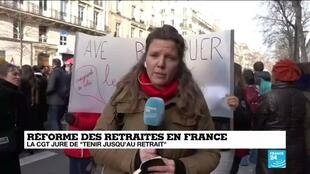 2020-01-24 13:04 Réformes des retraites : Un cortège parisien galvanisé qui ne reculera pas