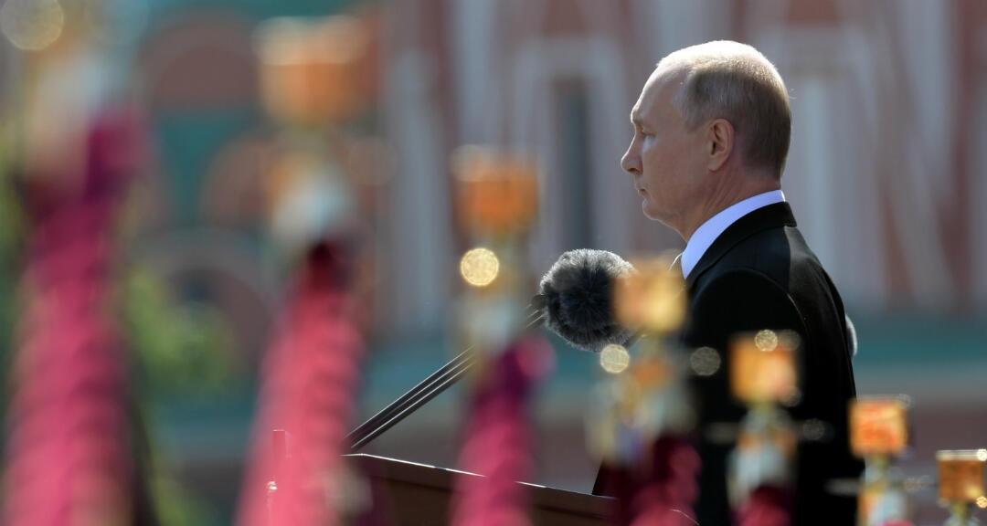 El presidente ruso, Vladímir Putin, durante el desfile del Día de la Victoria en la plaza Roja en Moscú, Rusia, el 24 de junio de 2020.