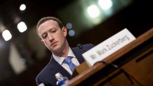 Mark Zuckerberg le 10 avril 2018 lors de son audition par le Sénat des États-Unis. .