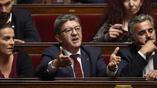 Jean-Luc Mélenchon à l'Assemblée nationale, mercredi 17 octobre.