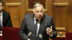 Gérard Larcher lors de son discours d'investiture à la présidence du Sénat, le 1er octobre 2014.