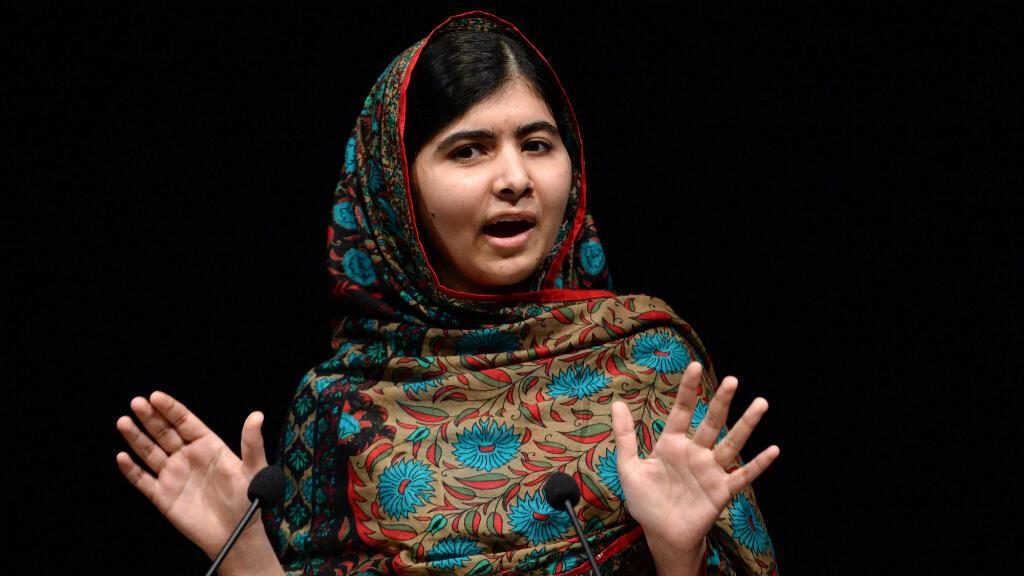 Malala Yousafzai hace una declaración después de ganar el Premio Nobel de la Paz en Birmingham, Reino Unido, el 10 de octubre de 2014.