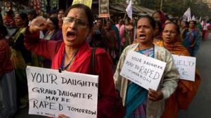 Manifestation en Inde contre les violences sexuelles le 3 janvier 2014.