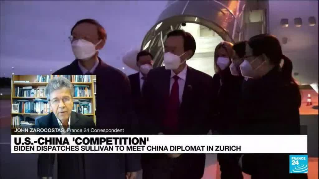 2021-10-06 16:12 US security adviser Sullivan and China's Yang hold talks in Zurich