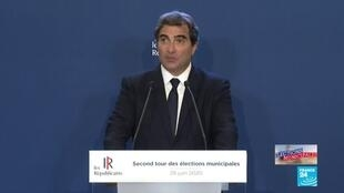 2020-06-28 21:41 Municipales 2020 : Allocution de Christian Jacob (LR)