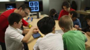 Un cours de code dans un Apple Store new-yorkais.