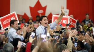 Le Premier ministre canadien, Justin Trudeau, à Vaughan, le 18 octobre 2019.