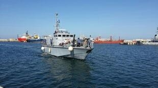 A Libyan coastguard ship intercepted a migrant vessel in Maltese waters on October 18, 2019.