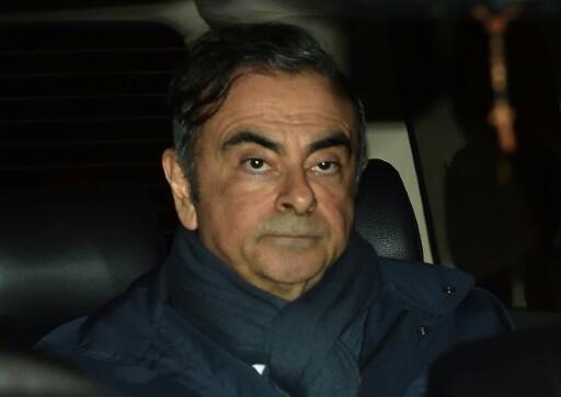 Carlos Ghosn in Tokyo on April 03, 2019
