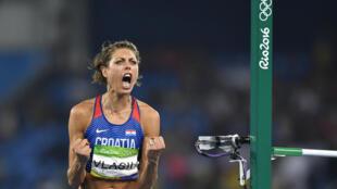فازت الكرواتية بلانكا فلاسيتش بآخر ميدالية لها في مسابقة الوثب العالي في أولمبياد ريو دي جانيرو 2016