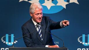 Bill Clinton à l'université de Boston, le 13 octobre 2017.