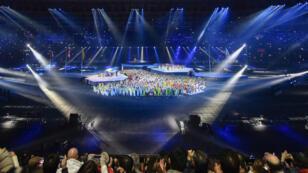 Numerosos artistas se presentan durante la clausura oficial de la XVIII edición de los Juegos Panamericanos en el estadio Nacional de Lima, Perú, el 11 de agosto de 2019.