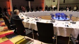 Le président du Parlement européen, Antonio Tajani, et le président de la Commision européenne, Jean-Claude Juncker, le dimanche 30 juin 2019, à Bruxelles.