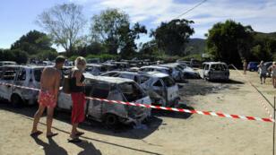 Des véhicules avaient été incendiés sur le parking du même Club Méditerranée de Cargèse, le 8 septembre 2008.