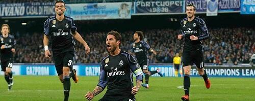 ريال مدريد يدين بالفوز على نابولي لقائده سيرجيو راموس