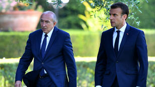 Gérard Collomb et Emmanuel Macron, le 26 juin 2018, lors d'une visite officielle à Rome.