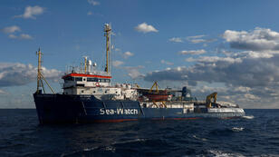 El barco de rescate Sea-Watch 3, operado por la ONG alemana homónima, se encuentra frente a las costas de Malta en el Mediterráneo central, el 4 de enero de 2019.
