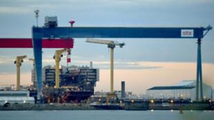 Les chantiers navals STX de Saint-Nazaire, le 20 octobre 2016.