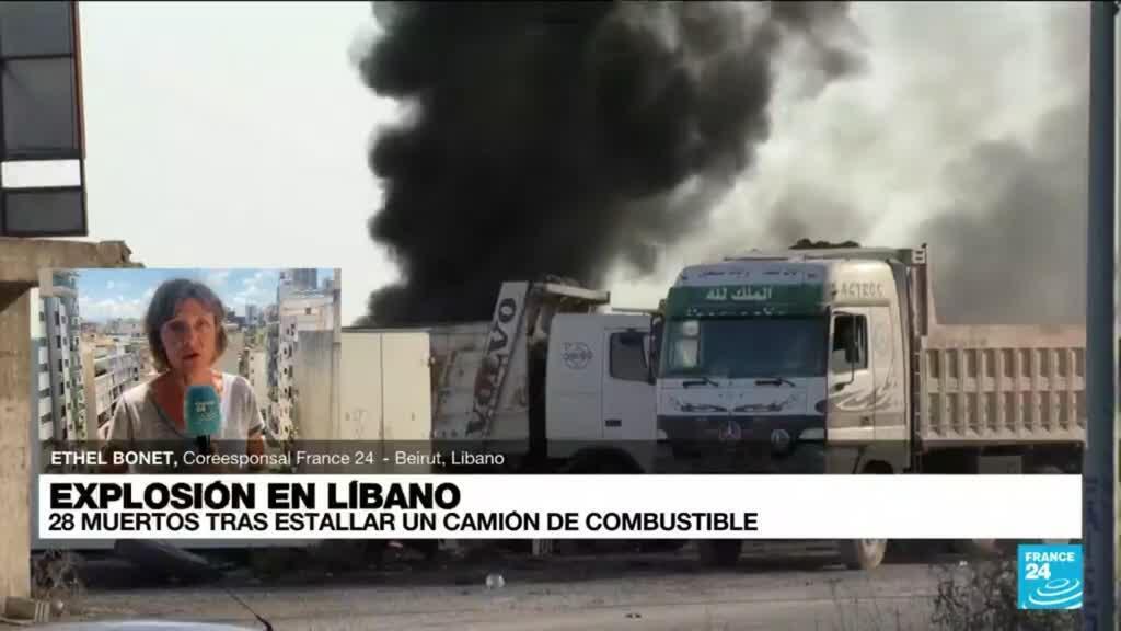 2021-08-15 14:47 Informe desde Beirut: explosión de camión con gasolina dejó varios muertos