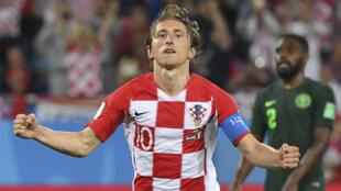 Luka Modric a inscrit le deuxième but croate sur penalty.
