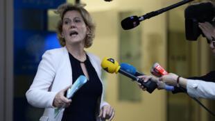 Nadine Morano au siège de l'UMP en juin 2014