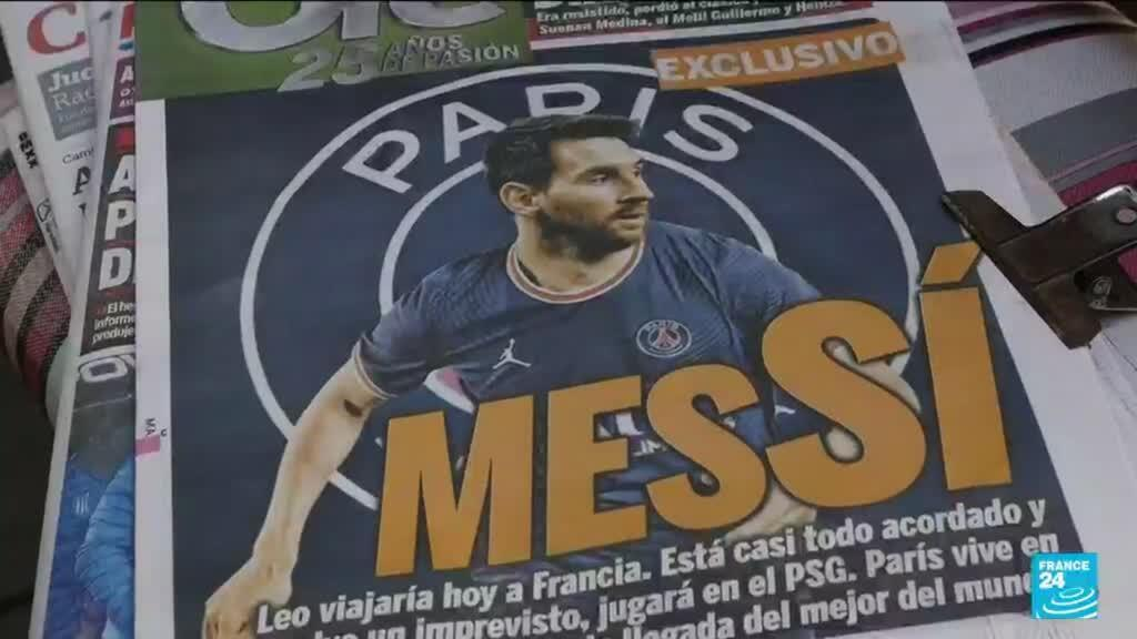 """""""With this news, we can forget about politics, the economic crisis, the pandemic. That's why we're only talking about [Messi],"""" a taxi driver tells FRANCE 24."""