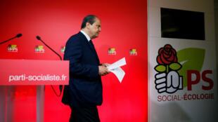 Le premier secrétaire du PS Jean-Christophe Cambadélis, rue de Solférino, à Paris, le 11 juin 2017.