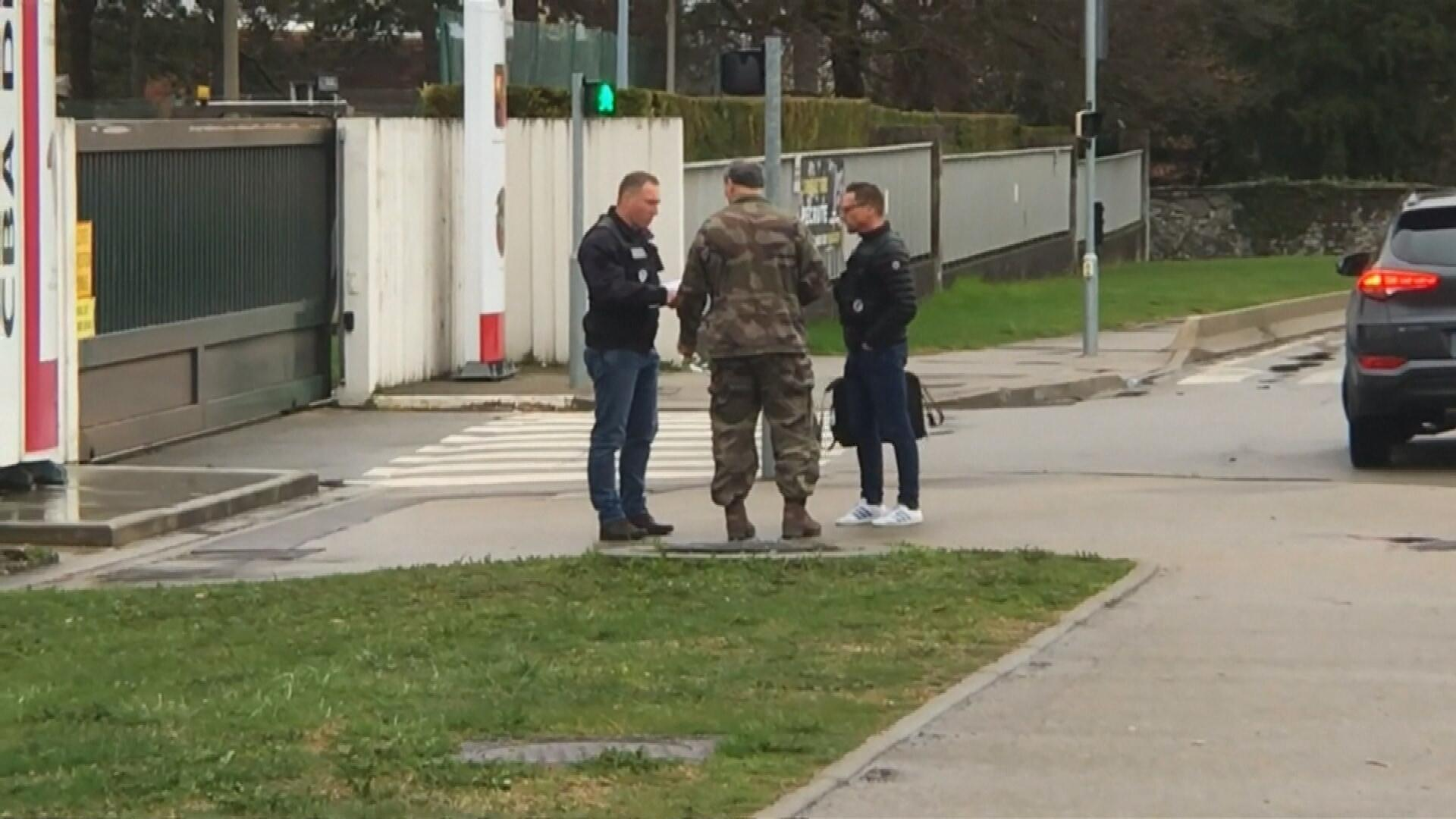 Exterior de la base militar en Varces-Allieres-et-Risset, France, el 29 de marzo de 2018.