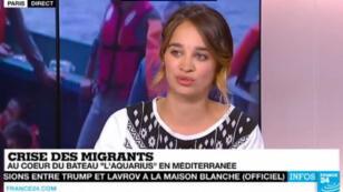 La journaliste Charlotte Boitiaux est restée 10 jours à bord du navire humanitaire.