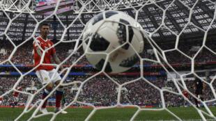 Les Russes ont trouvé le chemin des filets à cinq reprises, en ouverture de la Coupe du monde de football 2018.