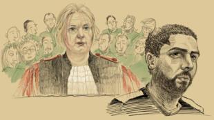 محاكمة مهدي نموش في بروكسل- 3 مارس/آذار 2019.