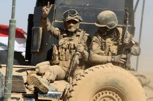آلية عسكرية عراقية قرب القيارة 20 أكتوبر 2016