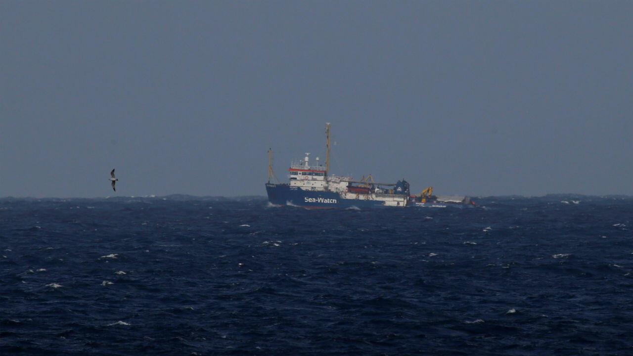El barco de rescate Sea Watch mientras aguardaba en Valletta, Malta, el 9 de enero de 2019.