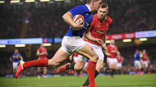 Anthony Bouthier scored a try as France won in Wales in the Six Nations