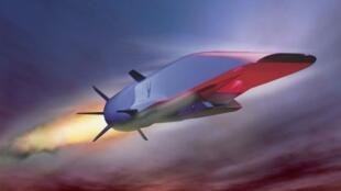El avión hipersónico americano X-51A cuyo vuelo de prueba falló en 2012.