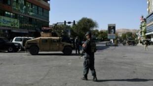 قوات أمن أفغانية في كابول في 25 آب/أغسطس 2017