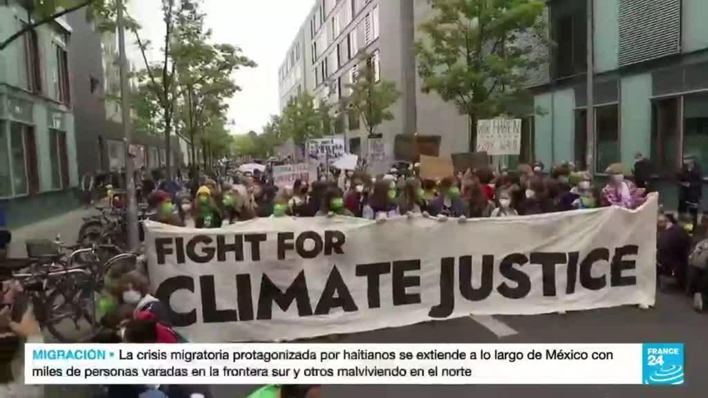 2021-09-24 19:09 A dos días de las elecciones en Alemania, activistas ambientales protestan por acciones climáticas