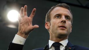 Le président français Emmanuel Macron, le 9 octobre 2018, à Paris.