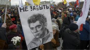 15 000 personnes ont défilé à Moscou en hommage à Boris Nemtsov.