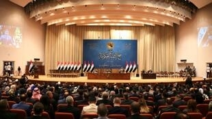 The Iraqi parliament, pictured here on October 24, 2018, has voted to approve the government's 2019 budget