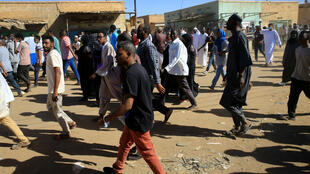 Des manifestants anti-gouvernementaux dans la capitale Khartoum le 11 janvier 2019.