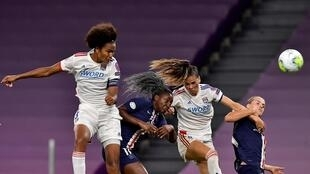 Wendie Renard soared above the Paris Saint-Germain to head the goal that took Lyon to a fifth straight women's Champions League final