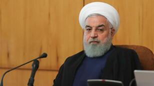 الرئيس الإيراني حسن روحاني خلال اجتماع الحكومة في 24 تشرين الأول/أكتوبر