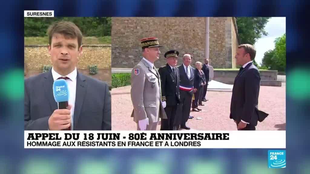 2020-06-18 13:03 Appel du 18 juin : une cérémonie tout en symboles au Mont-Valérien